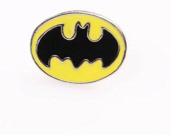 Batman Badge   Batman Lapel Pin   Batman Brooch  Superhero Jewelry   Comicbook Items