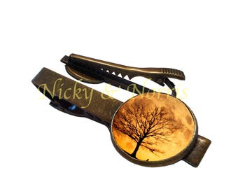 Harvest Moon Tie Clip - Made to Order