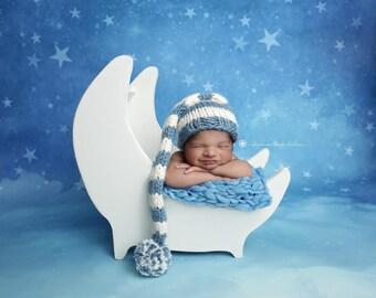 Photography Backdrop Starry Night, Newborn Photography Backdrop, Vinyl Photography Backdrop, Baby Photography Background - WHM102