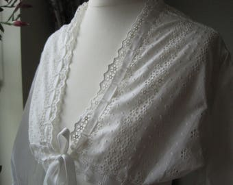 Romantic Victorian Country Vintage Lace Bolero, Shrug, Hand Made UK 8/10, Romantic Boudoir, Burlesque