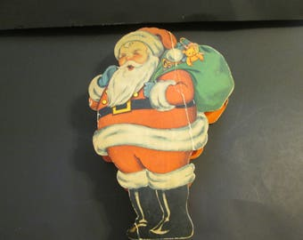 Very old 1933 dated cardboard Santa Claus. 20% off now 36.00 was 45.00