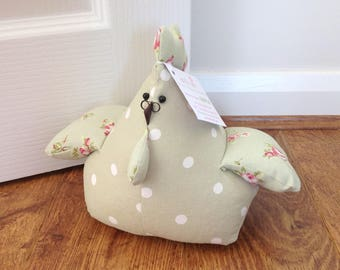 Doorstop Hen, Hettie! Hen Doorstop, Fabric Doorstop, Novelty Doorstop, Novelty Gift, Personalised Gift, Chicken Doorstop, Hen, Chicken