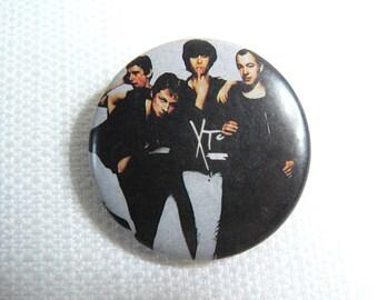 Vintage Late 70s XTC - White Music Album (1978) - Pin / Button / Badge