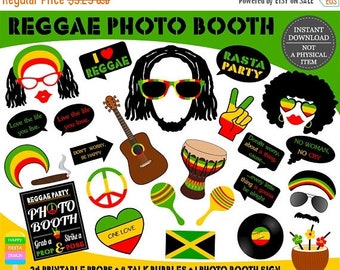 SALE PRINTABLE Reggae Photo Booth Props–Reggae Party Props-Jamaica Photo Props-Rasta Props-Music Photo Booth Props-Reggae Props-Instant Down