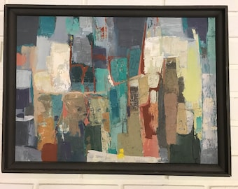 Mid Century Abstract Painting by St. Paul Artist Mac Le Sueur