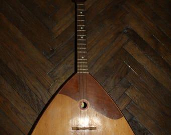 Original Soviet Russian Folk Instrument Balalaika 3 string Made Chernigov1980s