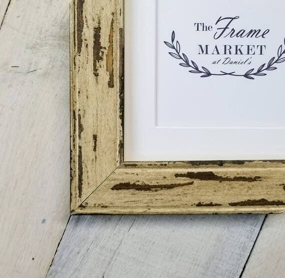 Benjamin Oyster Barn Wood Picture Frame With White Mat