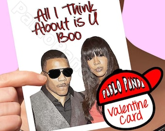 Funny Valentine Card | Nelly | Kelly Rowland Destiny'S Child Beyonce Boyfriend Gift Card For Girlfriend Valentines Gift Valentine Day Card