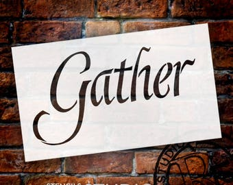 Gather - Graceful  - Word Stencil - Select Size - STCL2154 - by StudioR12