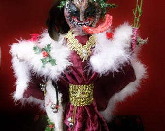 Krampus  the Christmas Devil spirit doll