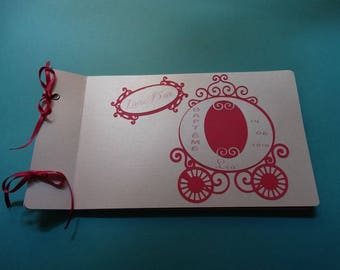 Theme guest book fuchsia Princess