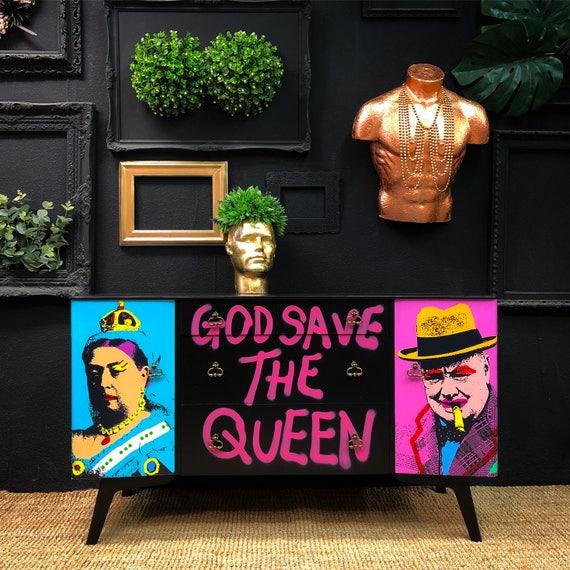 Pop art grafftii sideboard