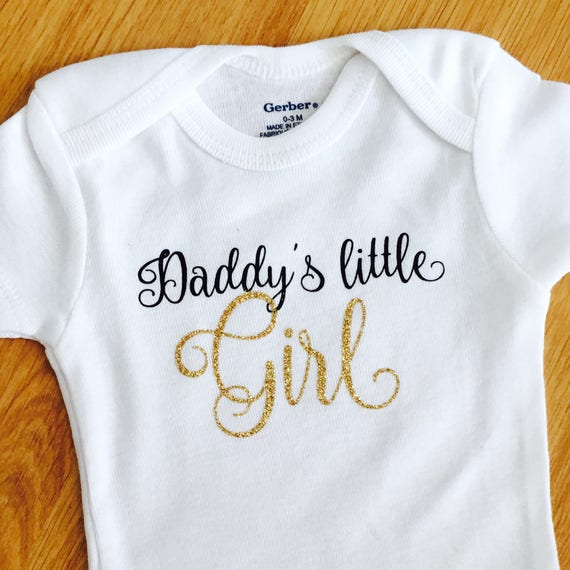 DIAMANTAIRE BODY SUIT PERSONALISED DADDYS LITTLE BABY GROW GIFT