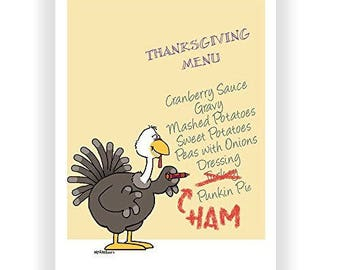 Small Change to the Menu Funny Thanksgiving Card - 18 Pack - 16209a