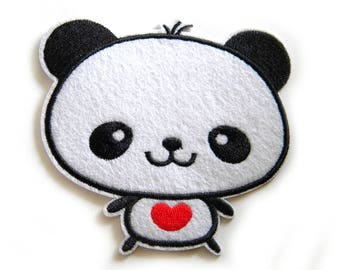 Panda Embroidered Patch Appliqué