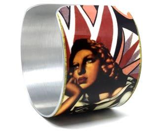Roaring 20s -  Photo Collage - Statement Bracelet - Cuff Bracelet - Flapper Bracelet - Bohemian Bracelet - Boho Bracelet - Art Deco Bracelet