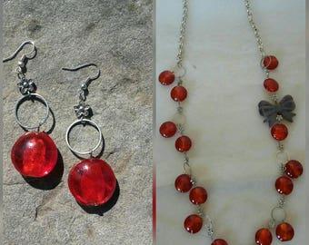 Jewelry set accessories handmade necklace dangle drop earrings handmade jewelry women jewelry jewelry handmade earrings handmade necklace