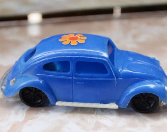 FREE SHIPPING - vintage plastic Volkswagon Bug - Hong Kong