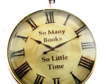 So Many Books So Little Time Faux Watch Necklace