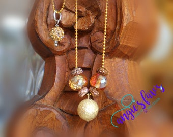 Ball Chain Necklaces, Gold