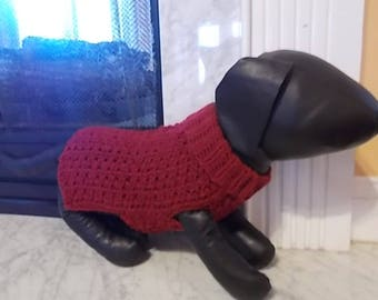New Burgundy Turtleneck Sweater Dog Clothing Yorkie Chihuahua Terrier Small S