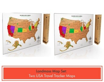 Scratch off map made in the usa travel tracker map 2 scratch off usa travel tracker maps with national parks perfect gift set for travelers sciox Gallery