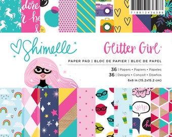 Shimelle glitter girl 6x6 paperpad