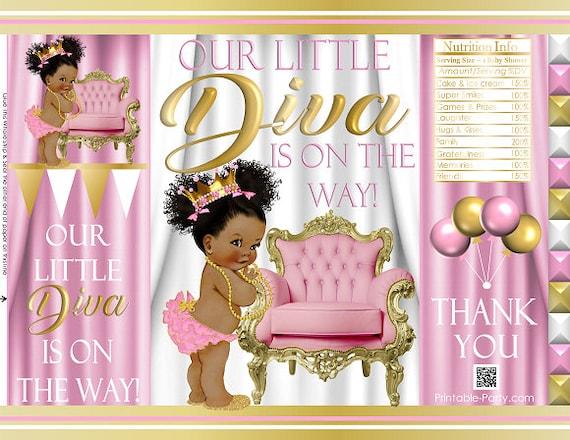 Printable Potato Chip Bags Girl Royal Princess Diva Baby