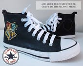 Genuine Converse Harry Potter Hogwarts HandPainted Shoes