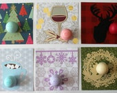 Warm Winter Wishes Holiday Cards • EOS Lip Balm Holder • Handmade Cards • Stocking Stuffer for Her • Hostess Gifts • Teacher Gifts
