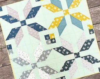 Winter Star   Modern Quilt Pattern   Scandinavian Style Quilt Pattern   Shannon Fraser Designs