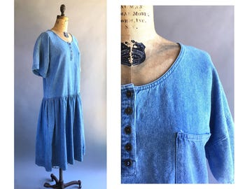 1080's Denim Dropwaist Dress