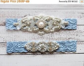 ON SALE Wedding Garter, NO Slip Lace Wedding Garter Set, bridal garter set, pearl and rhinestone garter set, vintage rhinestones Style A1007