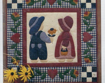 "Best Friends Sunbonnet Sue and Overall Sam Wall Quilt Kit 22"" x 22"""