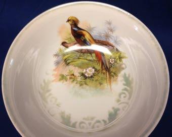 German Lusterware Hand Painted Bowl