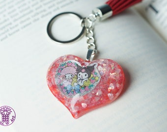 Red My Sweet Melody Glittery Key Chain
