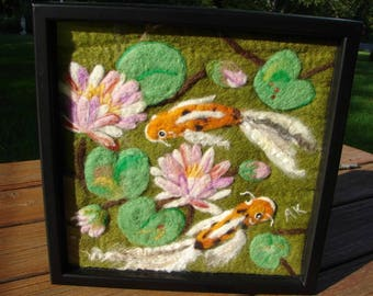 Needle Felted Painting, Needle Felted Wool Painting, Felted Painting, Wool Painting, Felted Picture, Wool Picture, Fiber Art