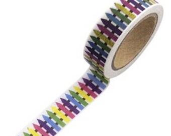 Masking tape colorful fence - Japanese washi paper tape