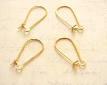 4 ear stud earring closing brass 24x11mm