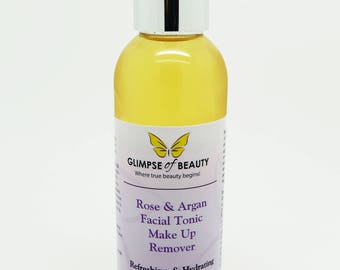 Facial Toner And Makeup Remover With Argan oil, And Rosehip oil