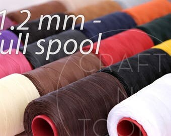 Thread for Leather Sewing Ritza 1.2mm FULL SPOOL 500m in 20 Colours/Ritza 25 Tiger Waxed Thread/Waxed Polyester/Saddle Sewing/Hand Stitching