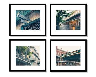 SALE, New Orleans Art, New Orleans Print Set, New Orleans Photography, Set of 4 Prints, New Orleans Wall Art, French Quarter, NOLA