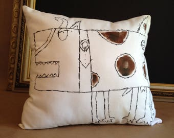 "Dog Accent Pillow - ""Spots"""
