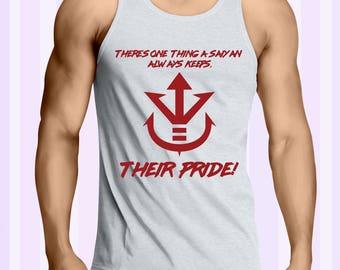 Vegeta Sayian Pride Quote Dragonball Z, GT and Super Men Tank