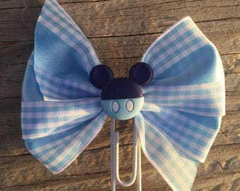 It's A Boy Mickey Mouse Baby Planner Bow Clip