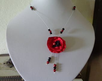 unique black red wire hypoallergenic available poppy on wedding