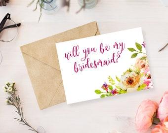 Bridesmaid Notecard | Bridal Party | Wedding Notecards | Envelopes Included
