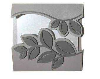 Leaves Card , Blank inside , PaperCut , Men , Women , Formal , Classic