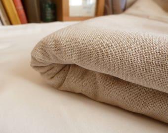 Cotton linen fabric beige unique 0,5m