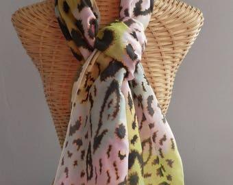 Panther E117 @evysoie silk shawl, scarf